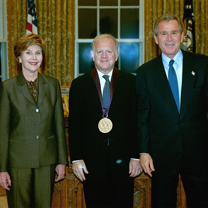 2003 | White House | with Laura and President George W. Bush, National Medal of Arts