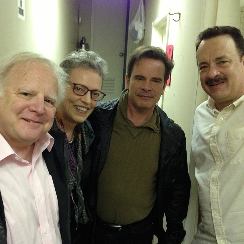 2013 | New York | with Cindy, Peter Scolari, and Tom Hanks