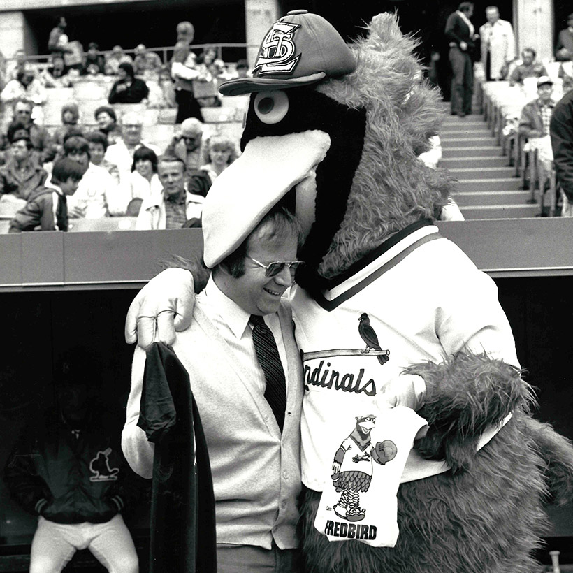 1982 | St. Louis | with Cardinals' Mascot